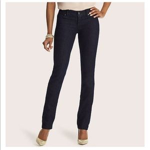LOFT Curvy Straight Dark Wash Jeans Size 27/4